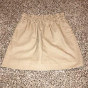J Crew Light Brown Skirt